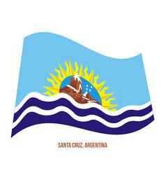Santa cruz flag waving on white background flag vector