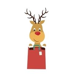 Shopping bag of Merry Christmas design vector