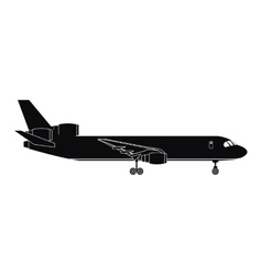 Silhouette airplane airport transport passenger vector
