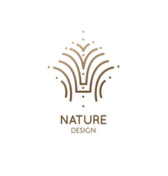 simple abstract logo plant vector image