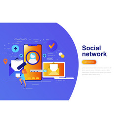 social network modern flat concept vector image