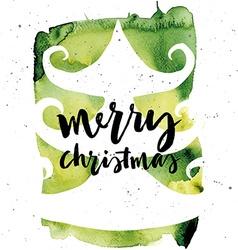 Spruce Christmas card Handmade Hand lettering vector image
