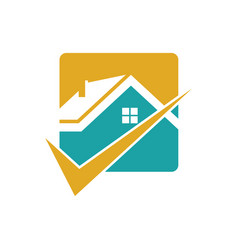 square home check logo vector image