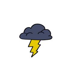 Storm cloud doodle icon vector