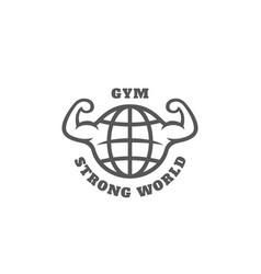 strong world gym logo vector image