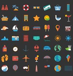 Summer holiday icon set vector