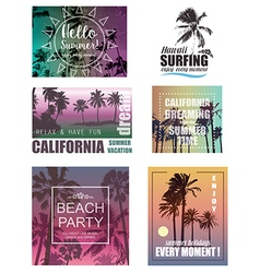 Summer travel and vacation backgrounds vector