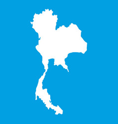 Thailand map icon white vector