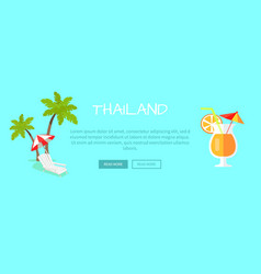Thailand touristic flat style web banner vector