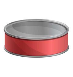 Tuna fish tin can icon cartoon style vector