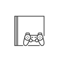 video game console and game controller vector image
