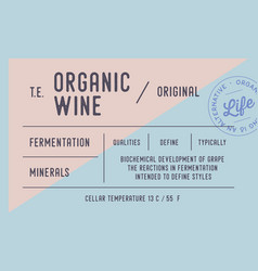Vintage minimal label set graphic modern vector
