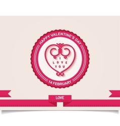 Vintage valentines day labels design element vector
