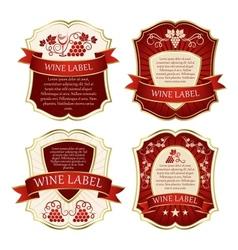 Wine label vector