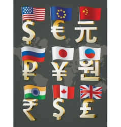 World currencies vector