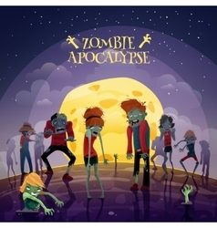 Zombie apocalypse background vector