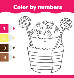 children educational game coloring page with vector image