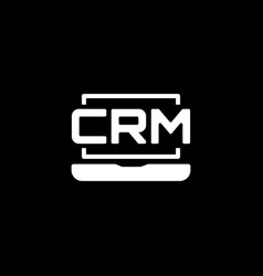 online crm system icon flat design vector image vector image