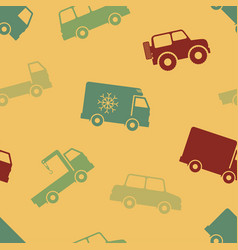 retro seamless cars pattern vector image vector image