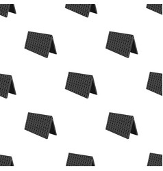 solar panel icon in black style isolated on white vector image