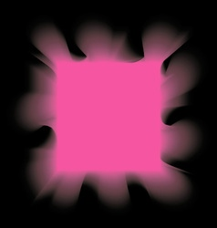 Square pink smoke on a black background vector