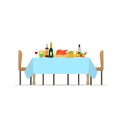 table for festive holiday romantic dinner vector image