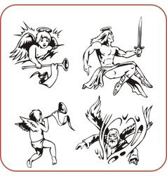 Angels - set vector image