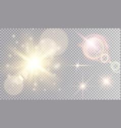 colorful lights set vector image