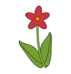 cute flower natural floral vector image vector image