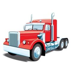 red semi truck vector image