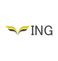 wing logo vector image