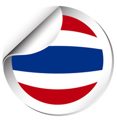 flag of thailand in round shape vector image
