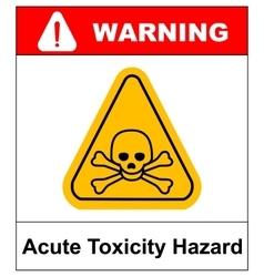 hazard pictogram acute toxicity vector image