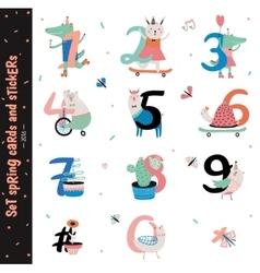Set of Birthday Anniversary Numbers vector image