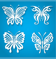 set of decorative butterfly decorated with vector image vector image