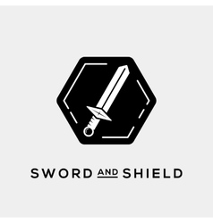 Sword and Shield Abstract Logo Template or vector image