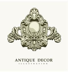 classical antique decor vector image vector image