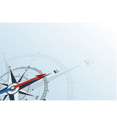 compass east background vector image vector image