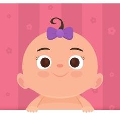 Flat little happy girl vector image vector image