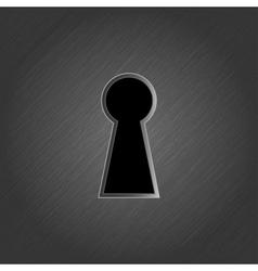 Keyhole on metal background - vector image