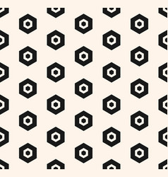 abstract geometric minimalist hexagon pattern vector image