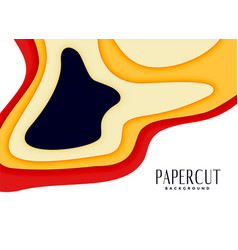 Abstract papercut background in bright warm colors vector