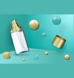 Abstract scene transparent spray bottle vector