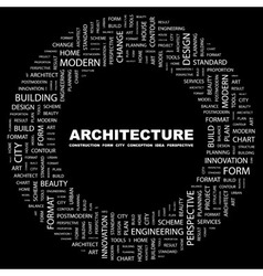 ARCHITECTURE vector image