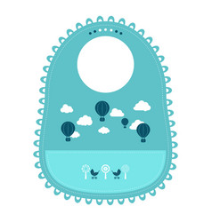 Baby bib for eating food isolated on a white vector