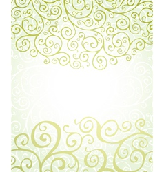 background with green ornaments vector image