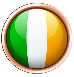 Badge design for flag ireland vector
