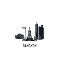 Bangkok principal buildings vector