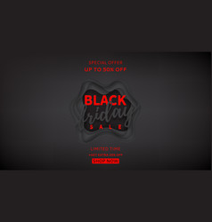 black banner for black friday sale vector image
