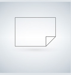 blank paper icon vector image